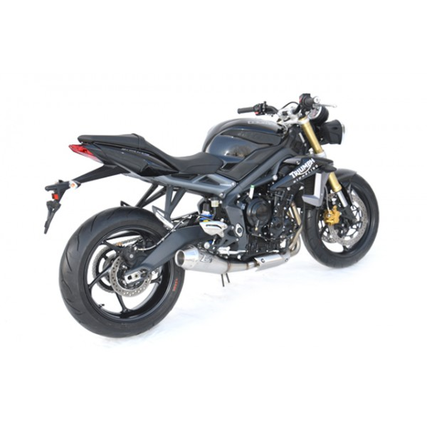 silencieux conique inox homologu pour street triple just4moto. Black Bedroom Furniture Sets. Home Design Ideas