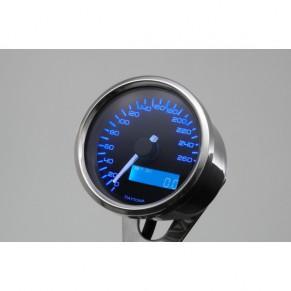 Compteur VELONA Speed Daytona 260 km/h à fond bleu