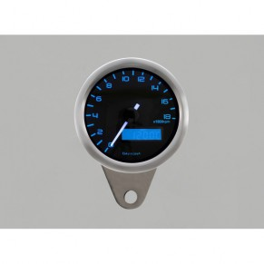 Compte-tours VELONA Daytona 18000 tr/min à fond bleu